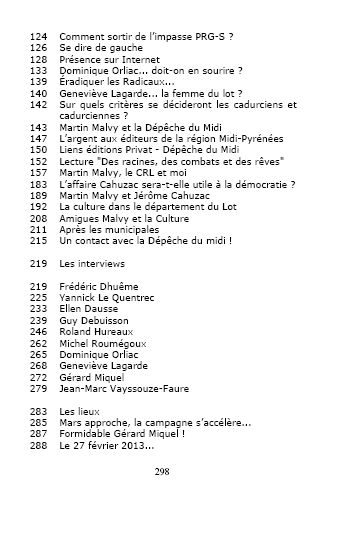 municipales 2014 table du livre suite